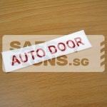 Auto Door, Vinyl Sticker.