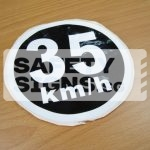 35km/h, Vinyl Sticker.