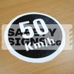 50km/h, Vinyl Sticker.
