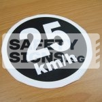 25km/h, Vinyl Sticker.