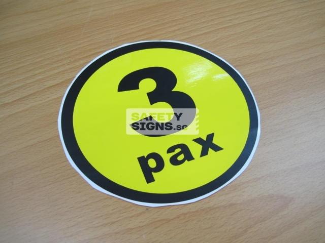 3pax, vinyl sticker.