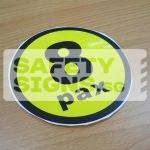 8pax, vinyl sticker.