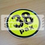 38pax, vinyl sticker.