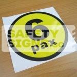 6pax, vinyl sticker.