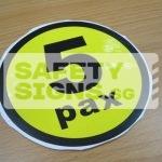 5pax, vinyl sticker.