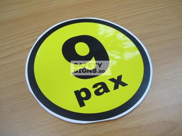 9pax, vinyl sticker.