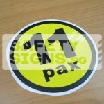 11pax, vinyl sticker.