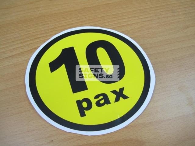 10pax, vinyl sticker.