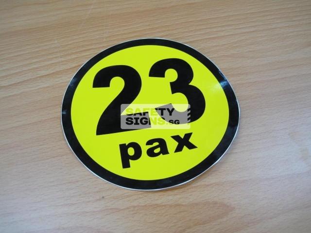 23pax, vinyl sticker.