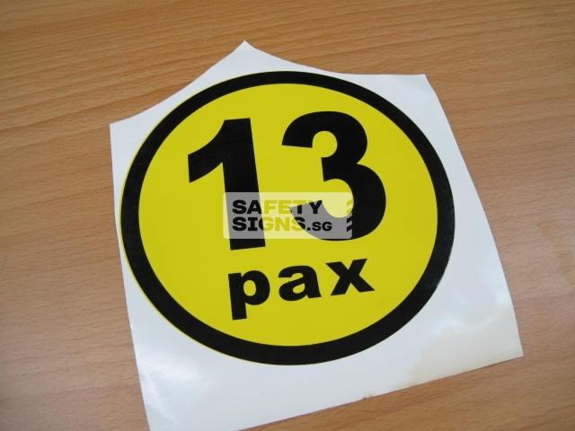13pax, vinyl sticker.