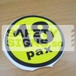 18pax, vinyl sticker.