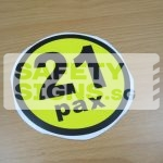 21pax, vinyl sticker.