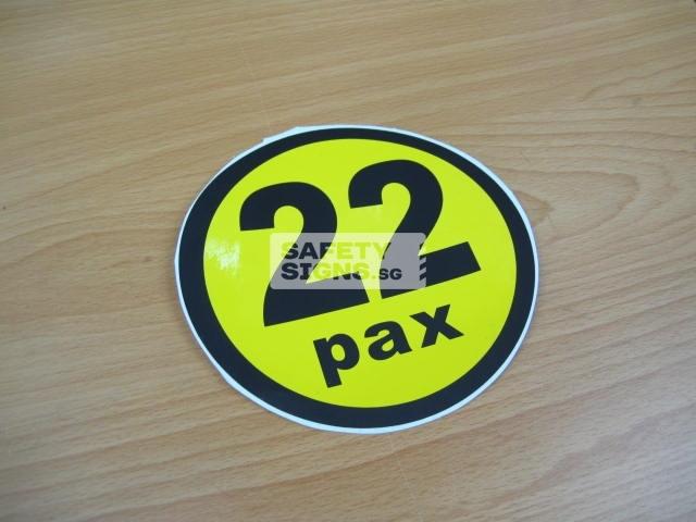 22pax, vinyl sticker.