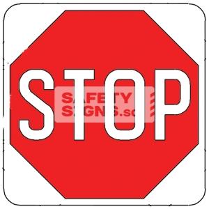STOP, Aluminum sign, reflective