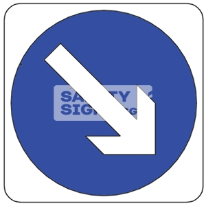 KEEP RIGHT, Aluminum sign.