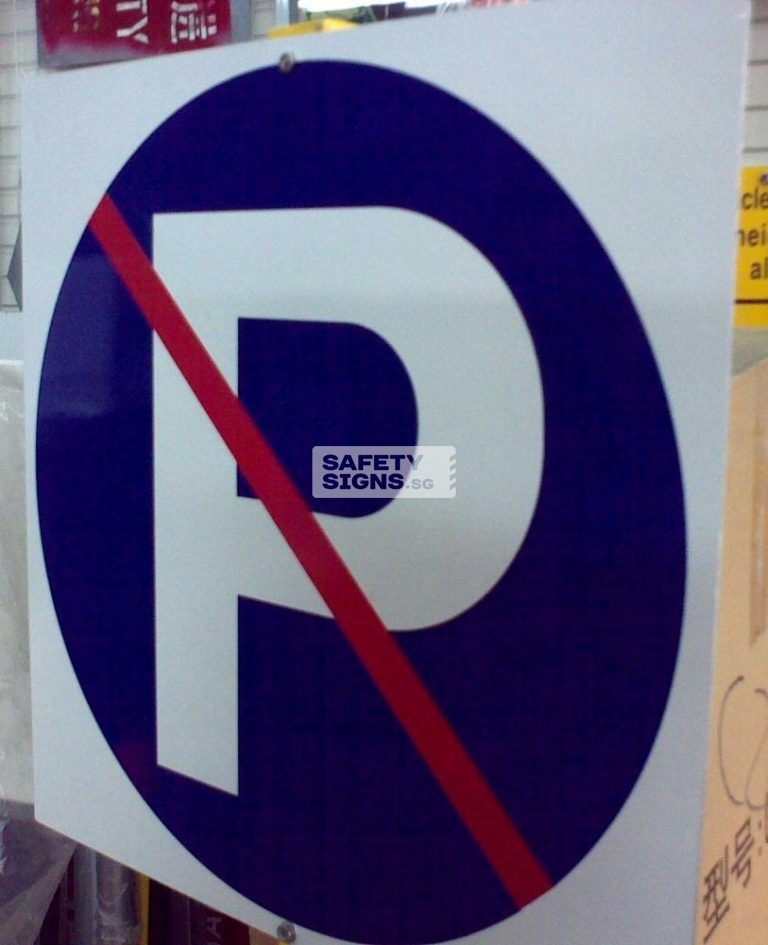 No Parking. Aluminum Sign.