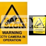 Warning CCTV Camera In Operation (W142_ACR)