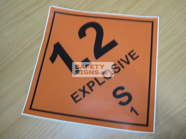 Explosive 1.2S. Vinyl Sticker.