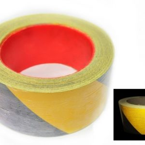 Tiger Tape. Yellow Black - Reflective.