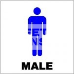 Toilet Male. Acrylic - Suitable for indoor use.