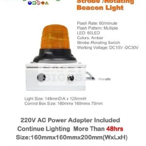 Rechargeable LED Battery Operated Strobe / Rotating Beacon Light (L001)