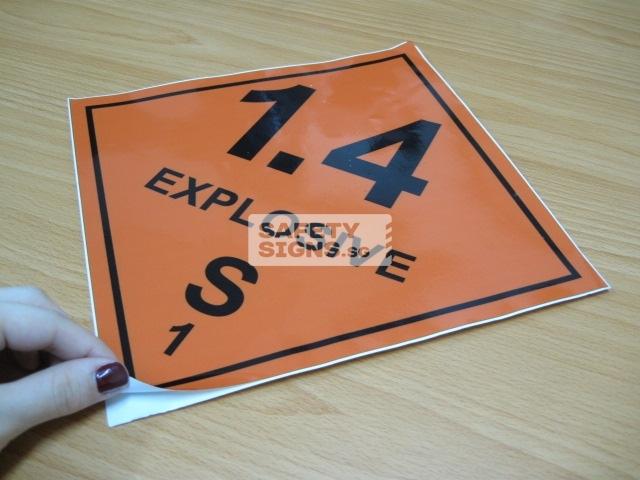 Explosive 1.4S. Vinyl Sticker.