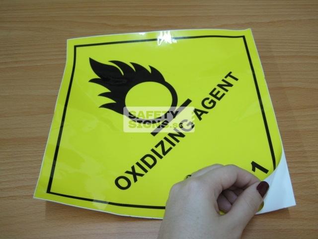 Oxidizing Agent. Vinyl Sticker.