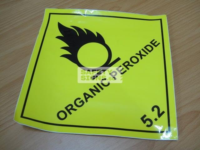 Organic Peroxide. Vinyl Sticker.