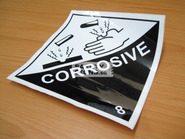 Corrosive 8. Vinyl Sticker.