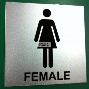 Toilet Female. Acrylic - Suitable for indoor use.