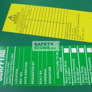 SCAFFTAG - Scaffold Erection & Inspection Record