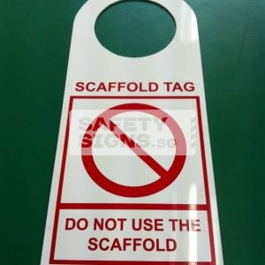 Scaffold Inspection Tag - DO NOT USE THE SCAFFOLD (LT049_PP)