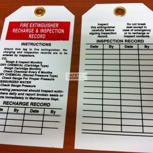 Fire Extinguisher Recharge & Inspection Record