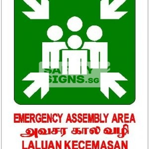 Emergency Assembly Area, 4 Languages