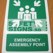 Emergency Assembly Point . Aluminum