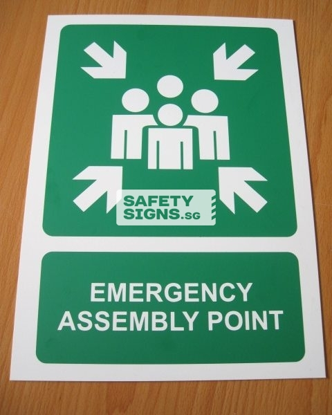 Emergency Assembly Point . Aluminum
