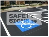 Handicap Parking Lot Stencil (LTA004_Stencil)