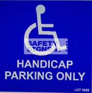 Handicap Parking Only (LTA002_ALU)
