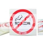 No Smoking By Law. Vinyl sticker