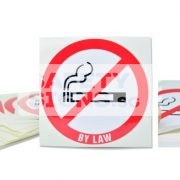 No Smoking By Law. Vinyl sticker