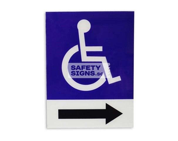 Handicap Sign right (TH005_ACR)