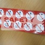 No Smoking, Vinyl sticker