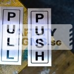 Push Pull Vertical stainless steel
