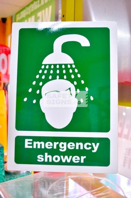Emergency Shower. aluminum