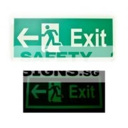 Exit - Luminous - Left . Acrylic - Suitable for indoor use.