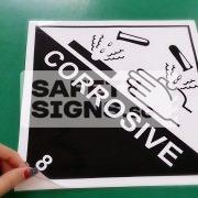 Corrosive 8. Paper Sticker