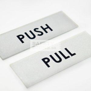 Push Pull Horizontal silver black
