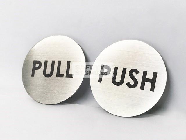 Push Pull Round stainless steel