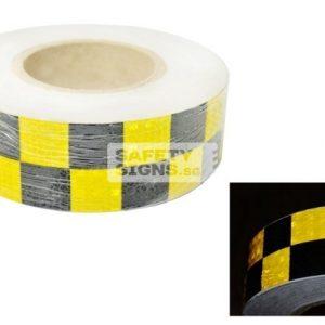 Diamond Tape Printed - Yellow / Black