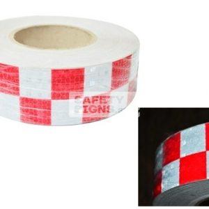 Diamond Tape Printed - Red / White